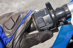 Guanti della motocicletta Fotografia Stock