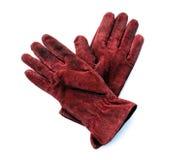 Guanti di cuoio rossi Fotografie Stock Libere da Diritti