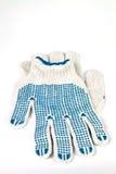 Guanti di lavoro Knitted immagine stock