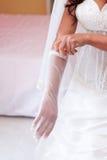 Guanti di nozze immagini stock