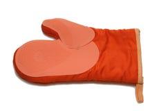 Guanto arancione della cucina Fotografia Stock Libera da Diritti