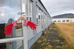 Guanto delle camere di albergo Fotografie Stock Libere da Diritti