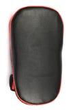 Guanto di respinta rosso dello schermo di scossa su fondo bianco Fotografia Stock Libera da Diritti