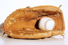 Guanto mezzo di baseball d'annata Immagini Stock Libere da Diritti