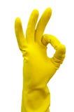 Guanto per la fabbricazione di pulizia Fotografie Stock Libere da Diritti