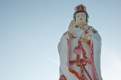 Guanyin on background  sky. Guanyin on background  blu sky Stock Images