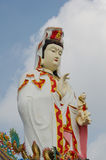 Guanyin with blue sky Stock Photo