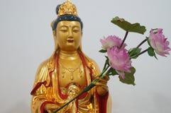 Guanyin Bodhisattva statue Stock Photo