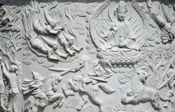 Guanyin Buddha Mural Qingdao China Royalty Free Stock Photos