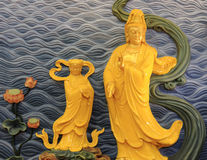 Guanyin buddha relief image Stock Photography