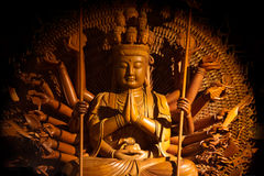 Guanyin buddha statue with thousand hands in Thailand Stock Photos