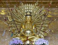 Guanyin Buddha thousand hands. Stock Photography
