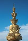 Guanyin de oro Foto de archivo
