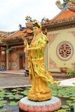 Guanyin. Is an East Asian deity of mercy, and a bodhisattva associated with compassion as venerated by Mahayana Buddhists Stock Photo