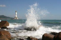 guanyin en el mar foto de archivo