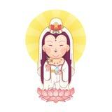 Guanyin-Göttin der Gnade Stockfotografie