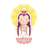 Guanyin Goddess of Mercy Stock Photography