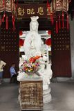 Guanyin or Guan Yin bodhisattva goddess statue for chinese people visit respect praying in Kaiyuan Temple at Teochew town. Or Chaozhou city on May 8, 2018 in royalty free stock images