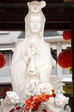 Guanyin or Guan Yin bodhisattva goddess statue for chinese people visit respect praying in Kaiyuan Temple at Teochew town. Or Chaozhou city on May 8, 2018 in stock image