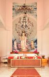 Guanyin and her set of alter table Royalty Free Stock Photos
