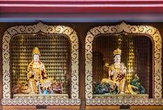 Guanyin and Manjusri Bodisattvas at Hsi Lai Buddhist Temple, Cal. Hacienda Heights, CA, USA - March 23, 2018: Closeup of  Avalokitesvara, Guanyin, and Manjusri Stock Photo