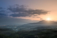 Guanyin Mountain Sunrise, the new Taipei, Taiwan Royalty Free Stock Image