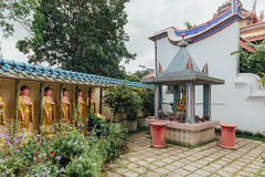 Guanyin sculptures and holy shrine in Kek Lok Si Temple is a Buddhist temple in Penang. Royalty Free Stock Photos