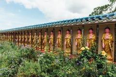 Guanyin skulpturer i Keken Lok Si Temple är en buddistisk tempel i Penang och är en av de bästa bekanta templen på ön royaltyfria bilder