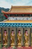 Guanyin skulpturer i Keken Lok Si Temple är en buddistisk tempel i Penang och är en av de bästa bekanta templen på ön royaltyfri bild