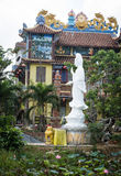 Guanyin statue at Chinese temple in Hoi An, Vietnam Stock Photo