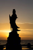 Guanyin. Statue is located along the eastern sea of Thailand Royalty Free Stock Image