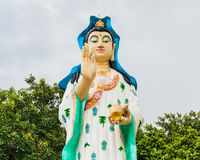 Guanyin statue on mountain Royalty Free Stock Photo