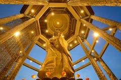 Guanyin-Statue während des chinesischen neuen Jahres lizenzfreie stockfotos