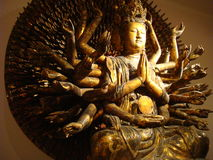 GUANYIN AND THE THOUSAND ARMS AT THE HISTORY MUSEUM IN HANOI, VIETNAM stock photo