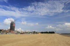 guanyinshan商业中心沙滩  免版税库存图片