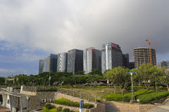 Guanyinshan business center under cloud Stock Images