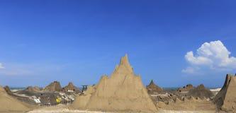 Guanyinshan sand sculpture park Royalty Free Stock Image