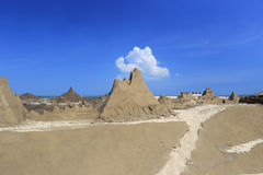 The guanyinshan sand sculpture park Royalty Free Stock Photo