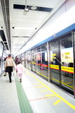 Guanzhou china: the subway station Stock Image