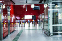 Guanzhou china: the subway station Royalty Free Stock Photos