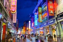 Guanzhou het Winkelen District royalty-vrije stock afbeeldingen