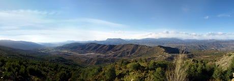Guara Mountain Range From Monrepos Pass (Huesca). Panoramic image of the Guara Mountain Range From Monrepos Pass (Huesca Stock Images