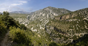 Guara's mountains. Panoramic view of Guara's mountains Royalty Free Stock Images