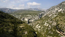 Guara's mountains. Panoramic view of Guara's mountains Royalty Free Stock Photos