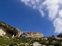 Guara's mountains. Hole in Guara's mountains, Huesca Stock Photos