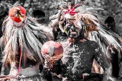 Guaranì indigeno Paraguay ceremomy immagine stock libera da diritti