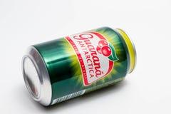 Geneva/switzerland-27.06.18 : Can of energy drink guarana antarctica. Guarana drink isolated on white stock images