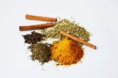Guarana, kryddnejlikor, kanel och några kryddor för att laga mat Royaltyfri Fotografi