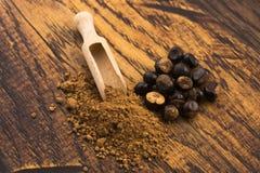 Guarana seeds and powder stock photo