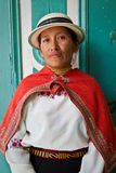 Портрет молодой индигенной женщины от Guaranda Стоковые Фотографии RF
